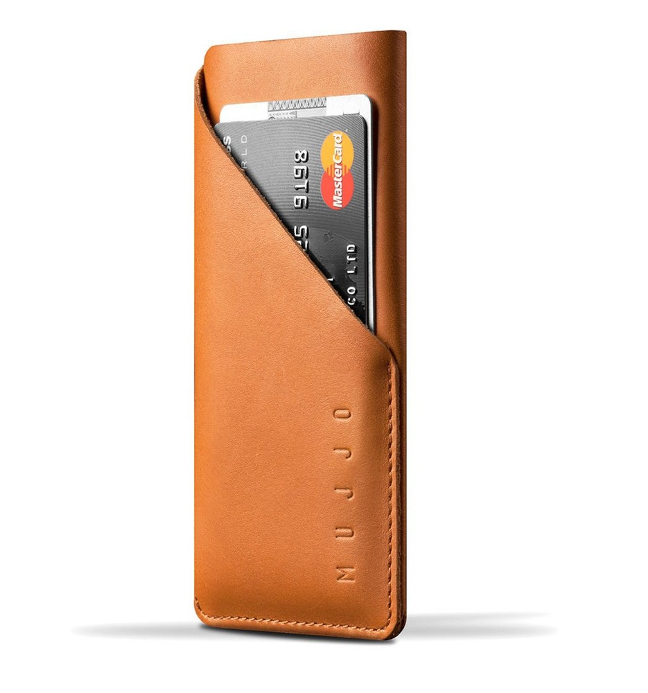 Mujjo wallet leren sleeve iPhone 6(S) / 7 bruin