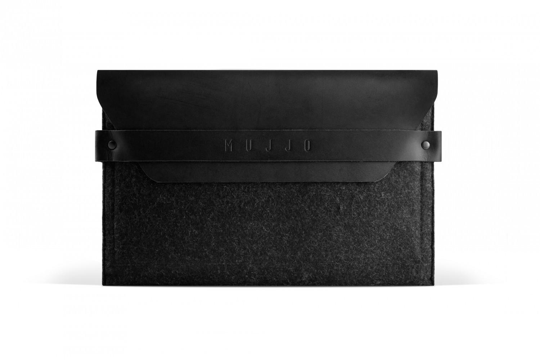 Mujjo Envelope iPad mini 1 / 2 / 3 / 4 / 5 Lederen Sleeve zwart