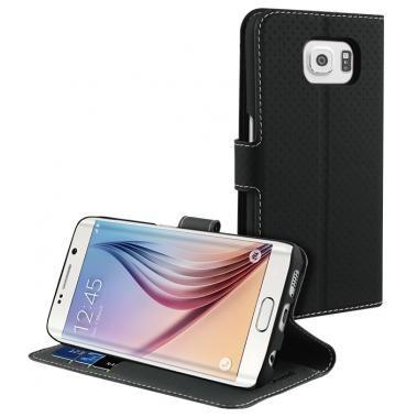 Muvit Wallet Stand Case Galaxy S6 Edge zwart