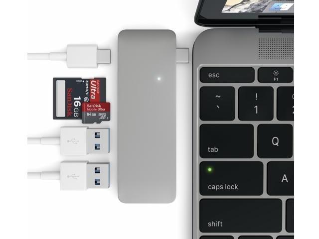 Satechi USB-C 3.0 3 in 1 Hub space gray