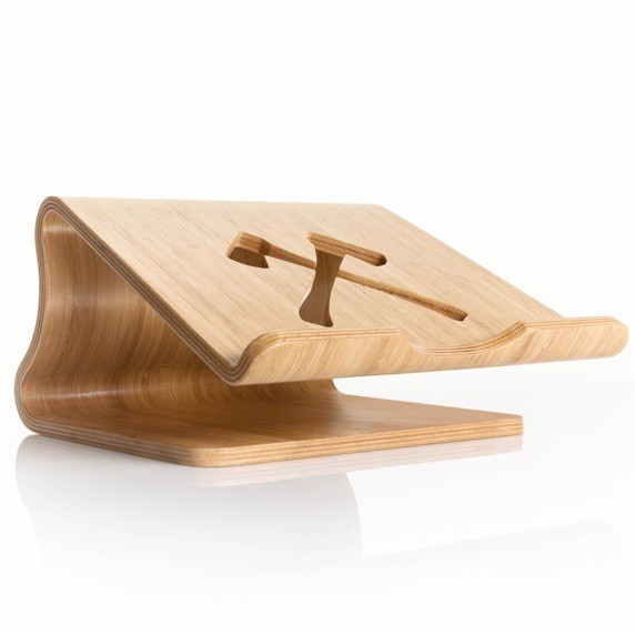 Woodcessories ecolift MacBook stand bamboe