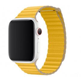 Apple Leather Loop Apple Watch large 42mm / 44mm Meyer Lemon