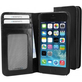 Mobiparts Excellent Wallet Case iPhone 5 / 5S zwart