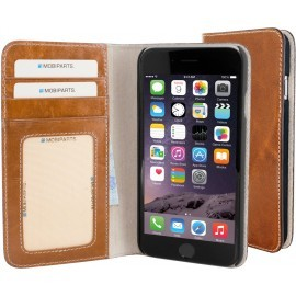 Mobiparts Excellent Wallet Case iPhone 6 / 6S Oaked Cognac