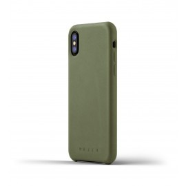 Mujjo Leather Case iPhone X groen