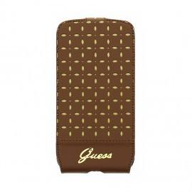 Gianina Galaxy S4 Leather Flip Case Cognac