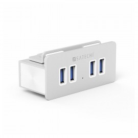 Satechi 4-Port USB 3.0 Aluminium Clamp Hub zilver