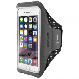Mobiparts Comfort Fit Sport Armband Apple iPhone 6/6S/7/8/SE (2020) Zwart