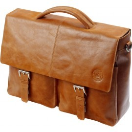 DBramante1928 Ledreborg MacBook 15 inch Leather Briefcase Golden Tan
