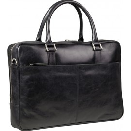 dbramante1928 Rosenborg MacBook 16 inch Leather Business Bag Black