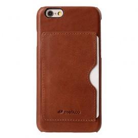 Melkco Back Cover iPhone 6 / 6S Case Card Slot Orange Brown