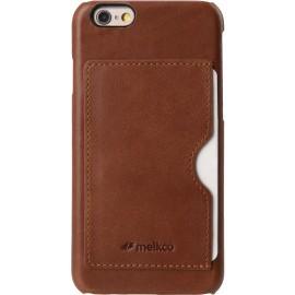 Melkco Back Cover iPhone 6 Plus / 6S Plus Case Card Slot Orange Brown