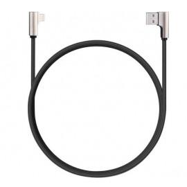 Aukey 90° kabel USB-A naar Lightning 1.2m zwart