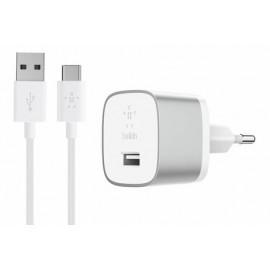 Belkin BOOST UP Thuislader met USB-C Oplaadkabel (Quick Charge 3.0) zilver