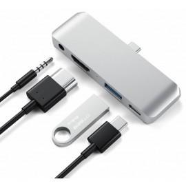 Satechi Aluminum Type-C Mobile Pro Hub zilver