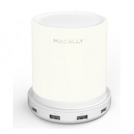 Macally Dimbare Tafel Lamp met 4 x USB-lader (EU) wit