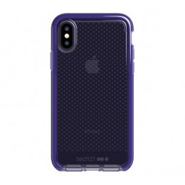 Tech21 Evo Check iPhone X / XS transparant / paars
