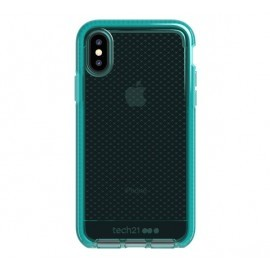 Tech21 Evo Check iPhone X / XS transparant / groen