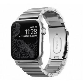 Nomad Titanium strap Apple watch 42 / 44 mm zilver
