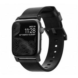 Nomad Modern slim leather strap Apple Watch 42 / 44 mm zwart