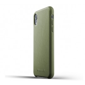 Mujjo Leather Case iPhone XR groen