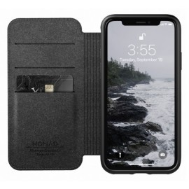 Nomad Rugged Case Folio Leather iPhone X / XS bruin