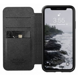 Nomad Rugged Case Folio Leather iPhone X / XS zwart
