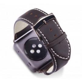 dbramante1928 Copenhagen Apple Watch bandje 42 / 44 mm grijs / donkerbruin