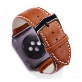 dbramante1928 Copenhagen Apple Watch bandje 42 / 44 mm grijs / bruin