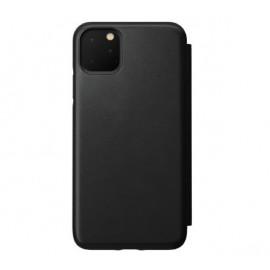 Nomad Rugged Folio Leather Case iPhone 11 Pro Max zwart