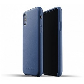 Mujjo Leather Case iPhone X blauw