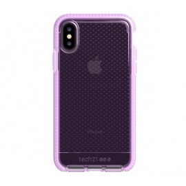 Tech21 Evo Check iPhone X / XS transparant / roze