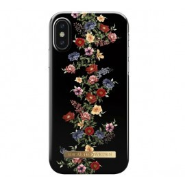 iDeal of Sweden Fashion Back Case iPhone X / XS dark floral
