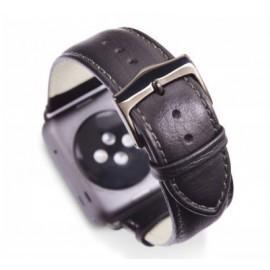 dbramante1928 Copenhagen Apple Watch bandje 38/40mm grijs/zwart