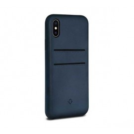 Twelve South Relaxed Leather pockets iPhone X Indigo