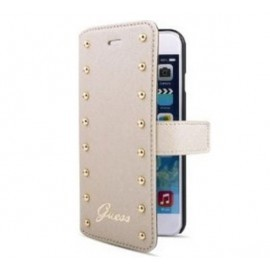 Guess Studded iPhone 6(S) Plus Folio Case Cream