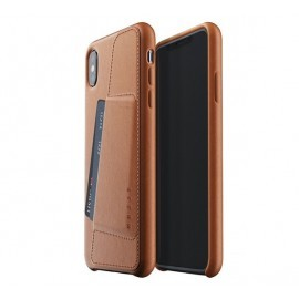 Mujjo Leather Wallet Case iPhone XS Max bruin