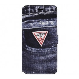 Denim iPhone 6 Plus / 6S Plus Folio Case Jeans Black