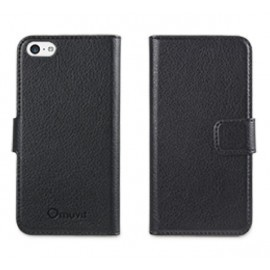 Muvit Slim Folio Case iPhone 5(S)/SE zwart