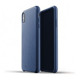 Mujjo Leather Case iPhone XS Max blauw