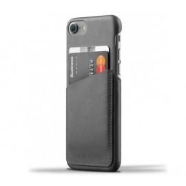 Mujjo wallet leren case iPhone 7 / 8 grijs