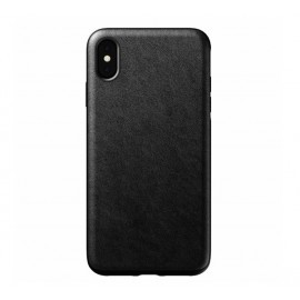Nomad Rugged Case Leather iPhone XS Max zwart