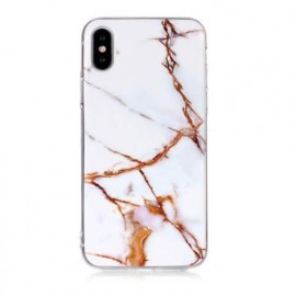 Casecentive Slim Hardcase Marble iPhone X / XS wit