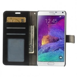 C&S Wallet Leather Case Galaxy Note 4 Black