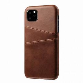 Casecentive Leren Wallet back case iPhone 12 Mini brown