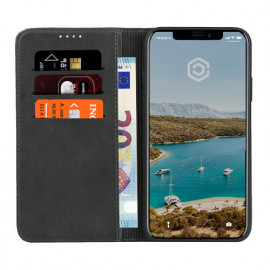 Casecentive Leren Wallet case iPhone XS zwart