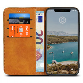 Casecentive Leren Wallet case iPhone X tan
