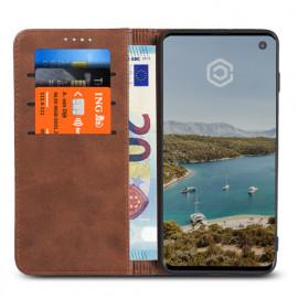 Casecentive Leren Wallet case Samsung Galaxy S10e bruin