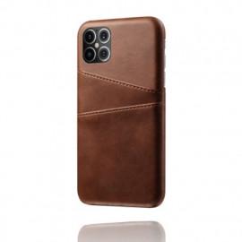 Casecentive Leren Wallet back case iPhone 12 Pro Max Brown