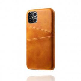 Casecentive Leren Wallet back case iPhone 12 Pro Max Tan